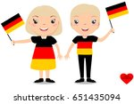 smiling children  boy and girl  ... | Shutterstock .eps vector #651435094