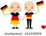 smiling children  boy and girl  ... | Shutterstock .eps vector #651435094
