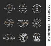 vintage apparel labels  retro... | Shutterstock .eps vector #651435790