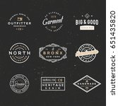 retro clothing badges in... | Shutterstock .eps vector #651435820