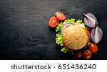 hamburger with cheese  meat ...