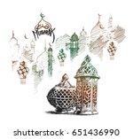 eid mubarak celebration ... | Shutterstock .eps vector #651436990