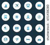 exploration colorful icons set. ...