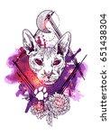beautiful hand drawn vector... | Shutterstock .eps vector #651438304