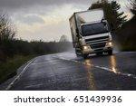 a1 motorway berwick  england ... | Shutterstock . vector #651439936