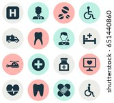 antibiotic icons set.... | Shutterstock .eps vector #651440860