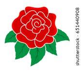 decoration motif of rose | Shutterstock .eps vector #651440908
