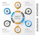 management icons set.... | Shutterstock .eps vector #651440920