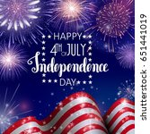 4th of july  american...   Shutterstock .eps vector #651441019