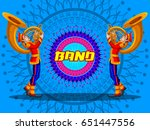 marching music brass band for... | Shutterstock .eps vector #651447556