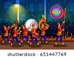 marching music brass band for... | Shutterstock .eps vector #651447769