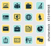 business icons set. collection... | Shutterstock .eps vector #651448468