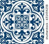 beautiful ornamental tile... | Shutterstock .eps vector #651454258