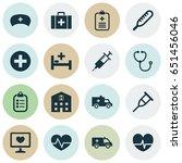 antibiotic icons set.... | Shutterstock .eps vector #651456046