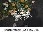 be change inspired active... | Shutterstock . vector #651457246