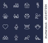 set of 16 people outline icons... | Shutterstock .eps vector #651457354