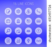 set of 16 trade outline icons... | Shutterstock .eps vector #651457726