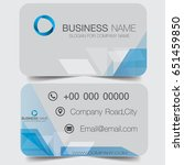 business cards with abstract... | Shutterstock .eps vector #651459850