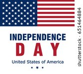 happy american independence day ... | Shutterstock .eps vector #651464884