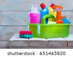 cleaning service.bascet with... | Shutterstock . vector #651465820