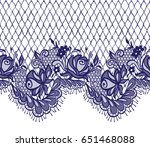 seamless vector blue lace... | Shutterstock .eps vector #651468088