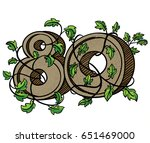 decorative numeral decorated... | Shutterstock . vector #651469000