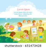 children's activities  at the... | Shutterstock .eps vector #651473428