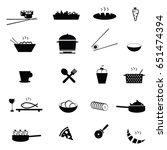 food icon set illustration on... | Shutterstock .eps vector #651474394