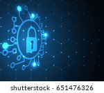 cyber security and information...   Shutterstock .eps vector #651476326