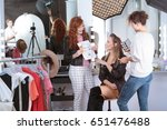 make up artists preparing... | Shutterstock . vector #651476488