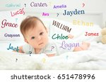 Baby Names Concept. Cute Littl...