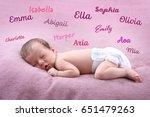 baby names concept. cute little ... | Shutterstock . vector #651479263