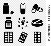 cure icons set. set of 9 cure... | Shutterstock .eps vector #651480310