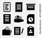 documents icons set. set of 9... | Shutterstock .eps vector #651480430