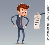 out money debt sad businessman... | Shutterstock .eps vector #651481084