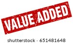 square grunge red value added... | Shutterstock .eps vector #651481648