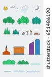 city landscape design elements. ... | Shutterstock .eps vector #651486190