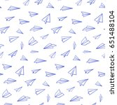 seamless pattern with vector... | Shutterstock .eps vector #651488104