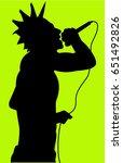 punk rock singer   Shutterstock .eps vector #651492826