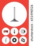 flat component set of car... | Shutterstock .eps vector #651498526