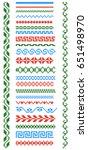 set of embroidered goods like... | Shutterstock .eps vector #651498970