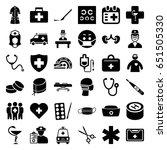 doctor icons set. set of 36...   Shutterstock .eps vector #651505330