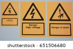 warning signs | Shutterstock . vector #651506680