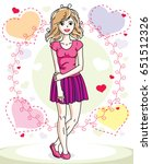 attractive young blonde woman... | Shutterstock .eps vector #651512326