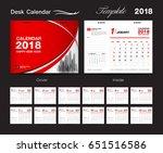 set desk calendar 2018 template ... | Shutterstock .eps vector #651516586