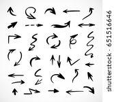 hand drawn arrows  vector set | Shutterstock .eps vector #651516646
