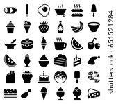 tasty icons set. set of 36... | Shutterstock .eps vector #651521284