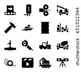 Industry Icons Set. Set Of 16...