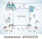 baby boy shower card. arrival... | Shutterstock .eps vector #651522154