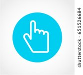 hand icon isolated on white... | Shutterstock .eps vector #651526684